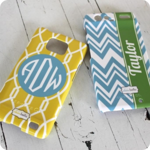 Monogrammed Cell Phone Cases from Clairebella-Many Options