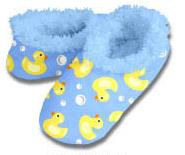 Duckies Snoozies Fleece Foot Coverings-New!-snoozies, fleece foot coverings, snoozies foot coverings, snoozies slippers, Poppies snoozies