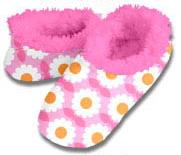 Fall Garden Snoozies Fleece Foot Coverings-New!-snoozies, fleece foot coverings, snoozies foot coverings, snoozies slippers, Poppies snoozies
