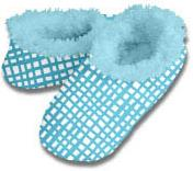 Grid Lines Snoozies Fleece Foot Coverings-New!