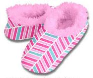 Mod Herringbone Snoozies Fleece Foot Coverings-New!