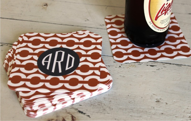 Personalized Paper Coasters from Clairebella-Many Options