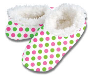 Preppy Dots Snoozies Foot Coverings-XL Avail