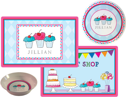 Sweet Shop Melamine Plate from Kelly Hughes Designs
