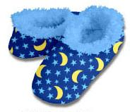 Stars & Moons Snoozies Fleece Foot Coverings-New!-snoozies, fleece foot coverings, snoozies foot coverings, snoozies slippers, Poppies snoozies