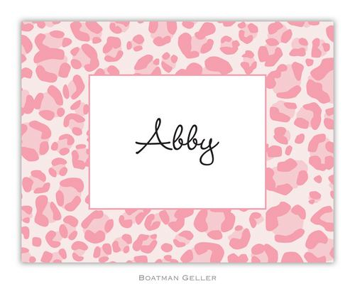 Leopard Pink Foldover Note from Boatman Geller