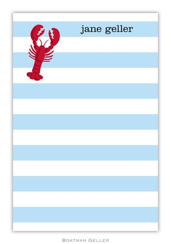 Lobster Personalized Notepads and Note Sheets from Boatman Geller