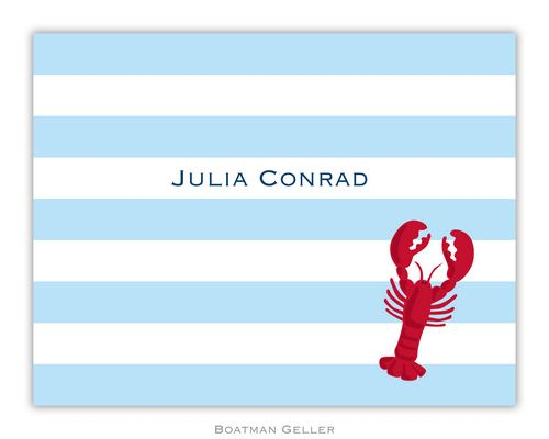 Stripe Lobster Foldover Note from Boatman Geller