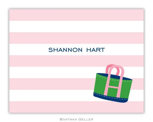 Stripe Tote Foldover Note from Boatman Geller