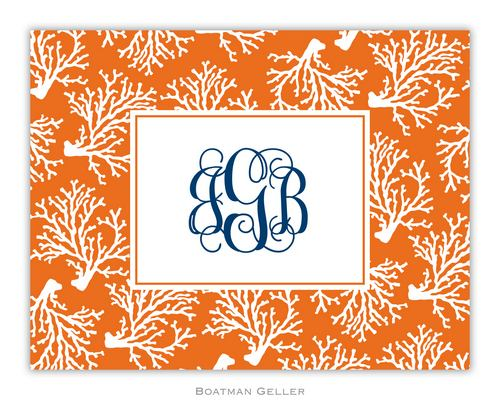Coral Repeat Foldover Note from Boatman Geller