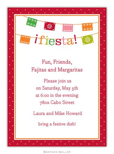 Banner Fiesta Invitation from Boatman Geller-Banner Fiesta Invitation from Boatman Geller