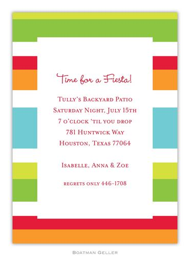 Espadrille Bright Invitation from Boatman Geller
