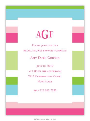 Espadrille Preppy Invitation from Boatman Geller-Espadrille Preppy Invitation from Boatman Geller