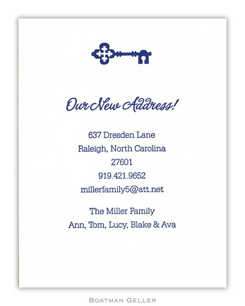 Letterpress Icon Small Flat Moving Announcement  from Boatman Geller