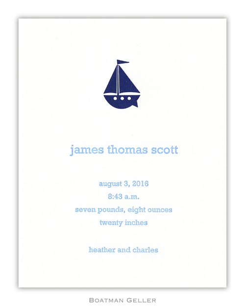 Letterpress Icon Small Flat Announcement from Boatman Geller