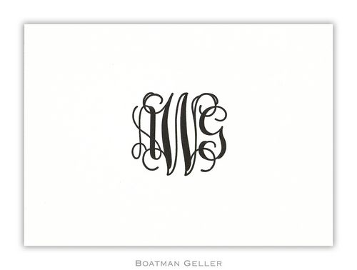 Petite Letterpress Folded Note from Boatman Geller