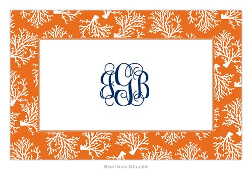 Personalized Coral Repeat Placemat from Boatman Geller
