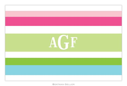 Personalized Espadrille Preppy Placemat from Boatman Geller