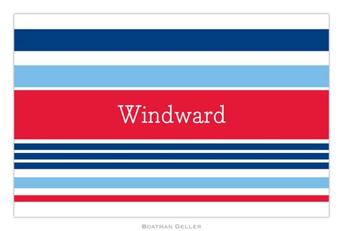 Personalized Espadrille Nautical Placemat from Boatman Geller