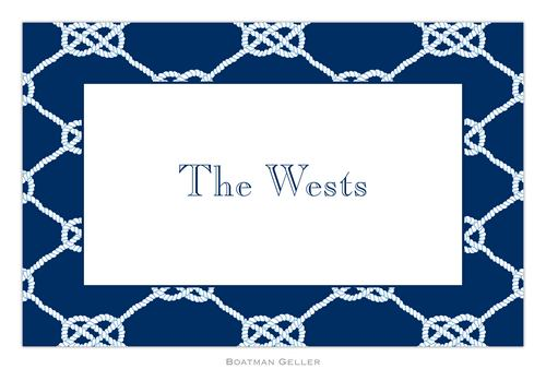 Personalized Nautical Knot Navy Placemat from Boatman Geller