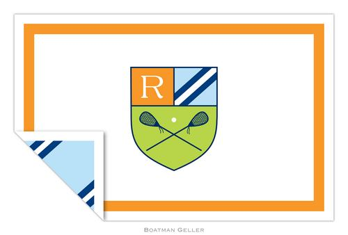 Personalized Crest Lacrosse Placemat from Boatman Geller