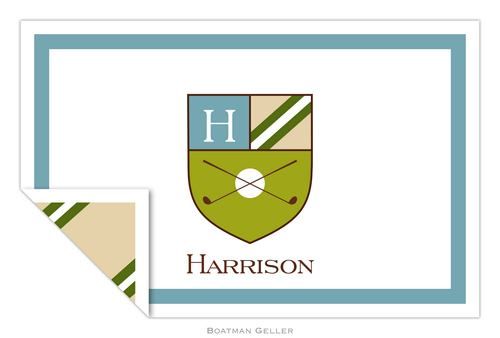 Personalized Crest Golf Placemat from Boatman Geller
