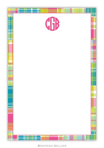 Madras Bright Personalized Notepads and Note Sheets from Boatman Geller