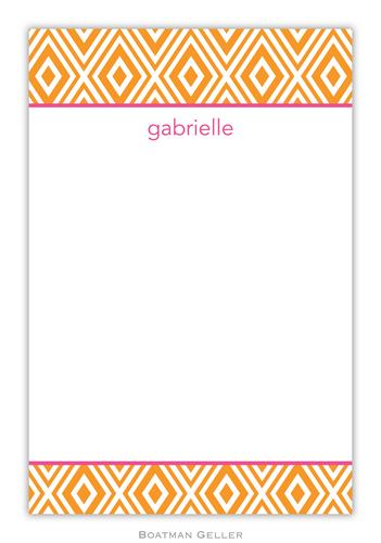 Mod Diamond Personalized Notepads and Note Sheets from Boatman Geller