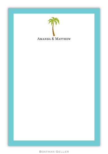 Palm Personalized Notepads and Note Sheets from Boatman Geller
