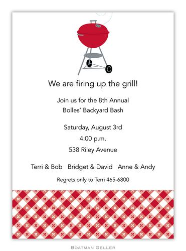 Backyard Barbeque Invitation from Boatman Geller-Backyard Barbeque Invitation from Boatman Geller