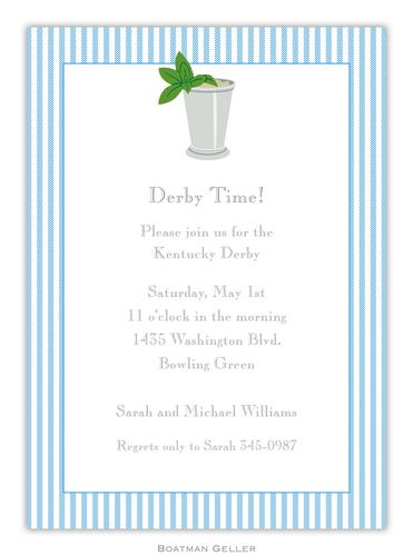 Mint Julep Invitation from Boatman Geller