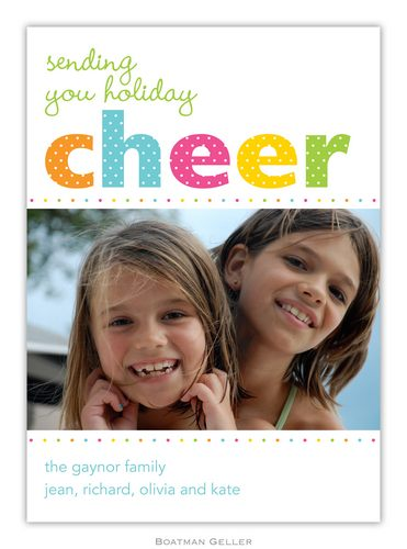 Cheer Dot Holiday 1-Photo Card from Boatman Geller