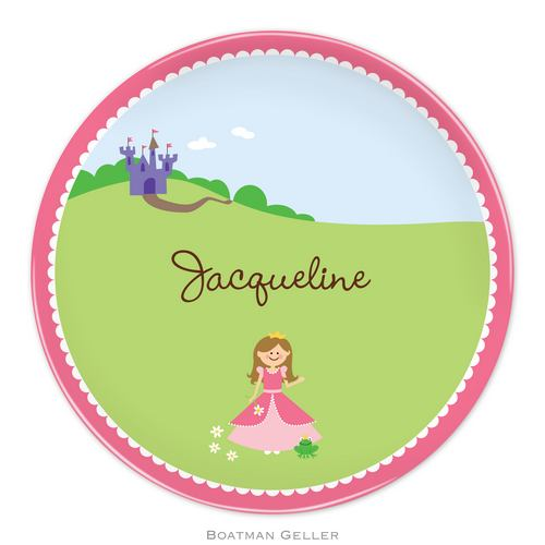 Personalized Melamine Princess Plate from Boatman Geller