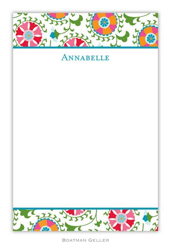 Suzani Personalized Notepads and Note Sheets from Boatman Geller