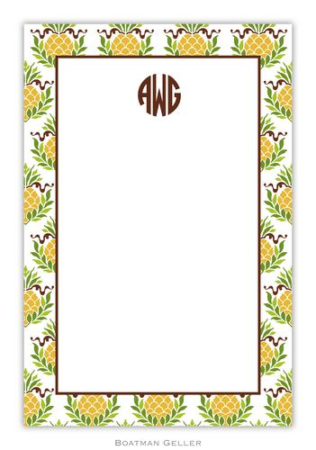 Pineapple Repeat Personalized Notepads and Note Sheets from Boatman Geller