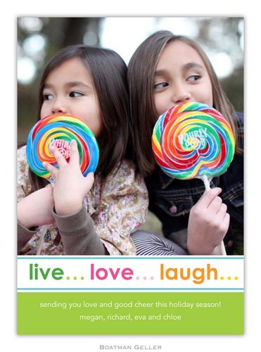 Live Love Laugh Holiday 1-Photo Card from Boatman Geller