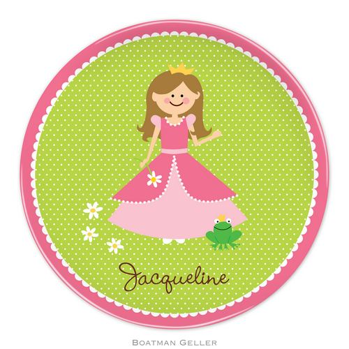Personalized Melamine Princess Portrait Plate from Boatman Geller
