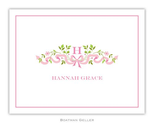 Ribbon Pink Foldover Note from Boatman Geller