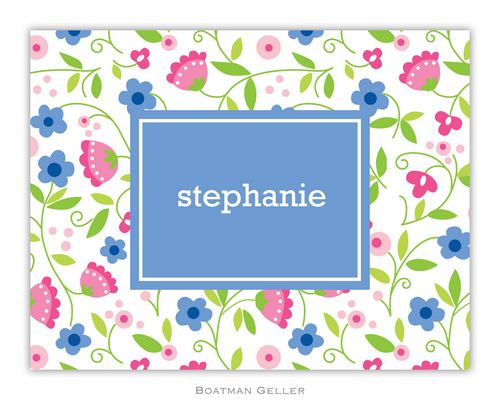 Spring Periwinkle Foldover Note from Boatman Geller
