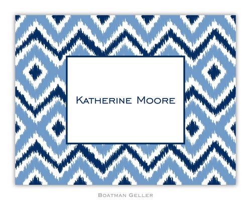 Ikat Blue Foldover Note from Boatman Geller