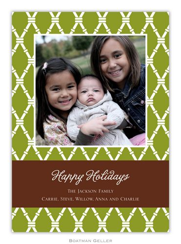 Bamboo Jungle Holiday 1-Photo Card from Boatman Geller