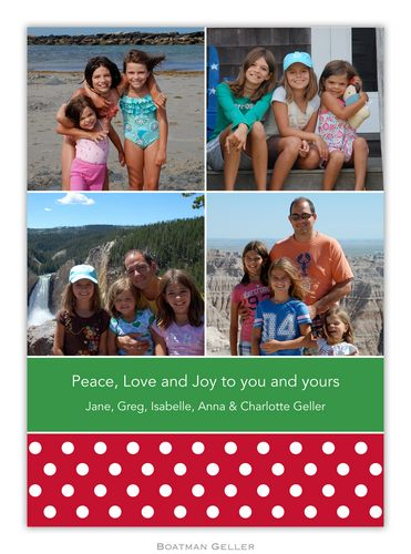 Polka Dot Pine Holiday Photo Card from Boatman Geller