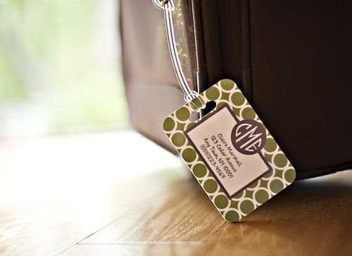 Personalized Luggage Tags from Clairebella