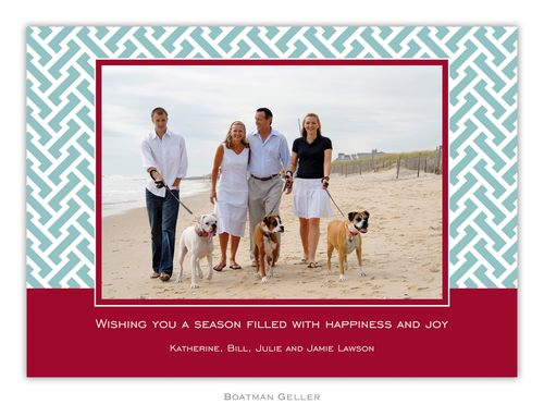 Stella Slate Holiday 1-Photo Card from Boatman Geller