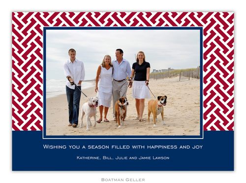 Stella Cranberry Holiday 1-Photo Card from Boatman Geller