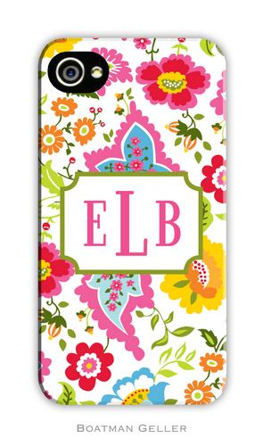 Bright Floral Personalized Boatman Geller Hard Cell Phone and Tech Cases