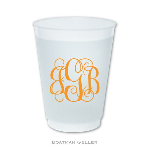 Monogrammed Frost Flex Cups from Boatman Geller