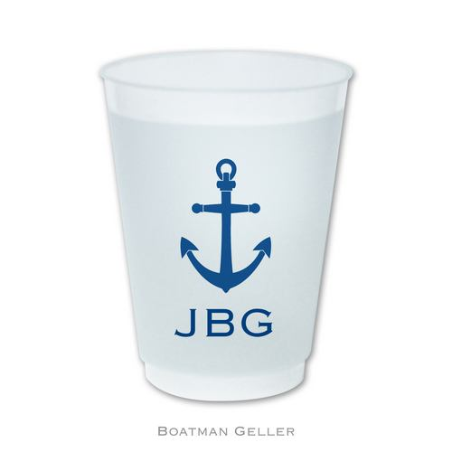 Frost Flex Cups with Icons from Boatman Geller-16 oz frost flex cups from boatman geller, monogrammed frost flex cups from boatman geller