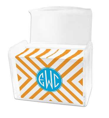 Dabney Lee Chevron Note Cards in Lucite Stationery Box