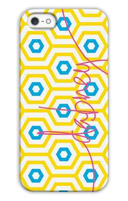 Happy Hexagon Monogrammed Tech and Phone Cases from Dabney Lee